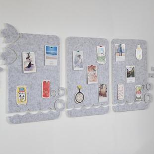 照片墙免打孔毛毡板墙贴自粘贴网红背景墙幼儿园创意装饰公告栏