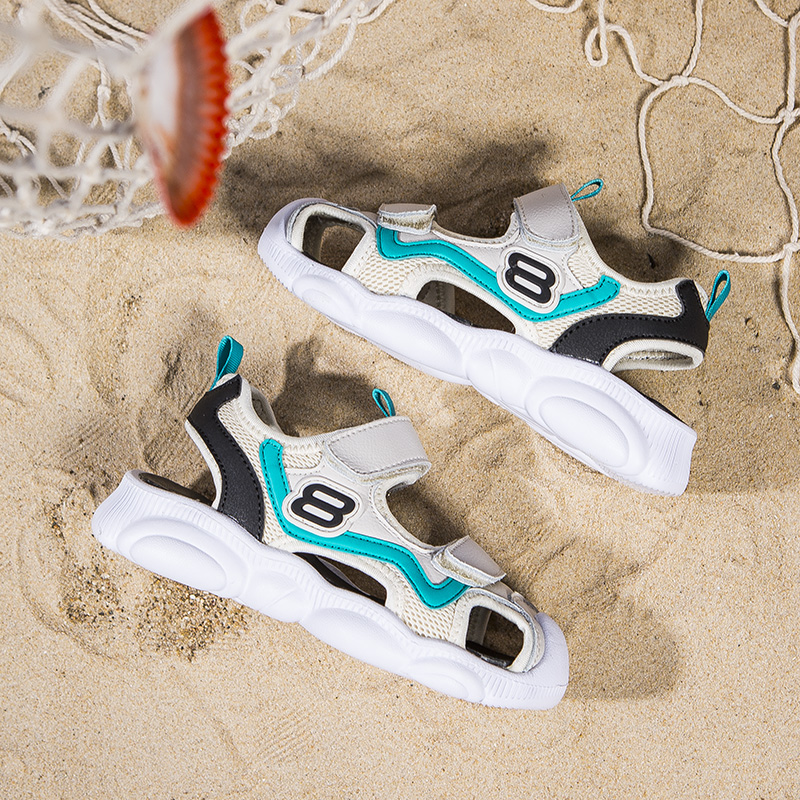 童鞋男童凉鞋2019夏季新款韩版宝宝包头凉鞋儿童软底小熊鞋沙滩鞋