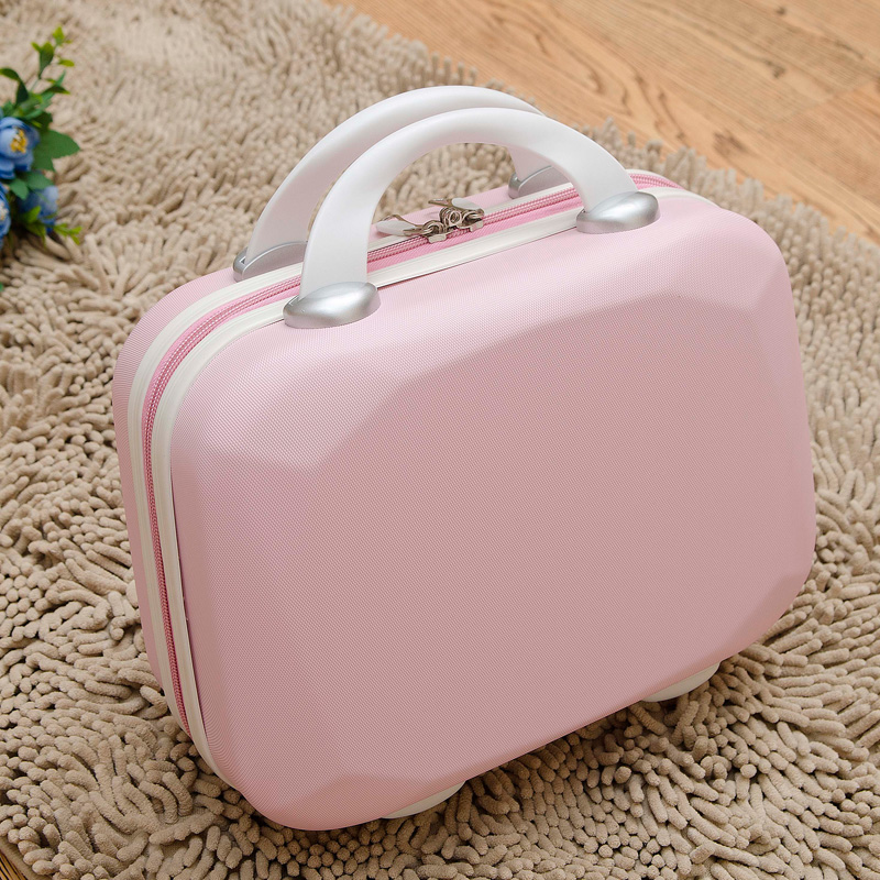 Package mail 14 inch cosmetic bag womens suitcase small suitcase fashion Mini suitcase summer small suitcase