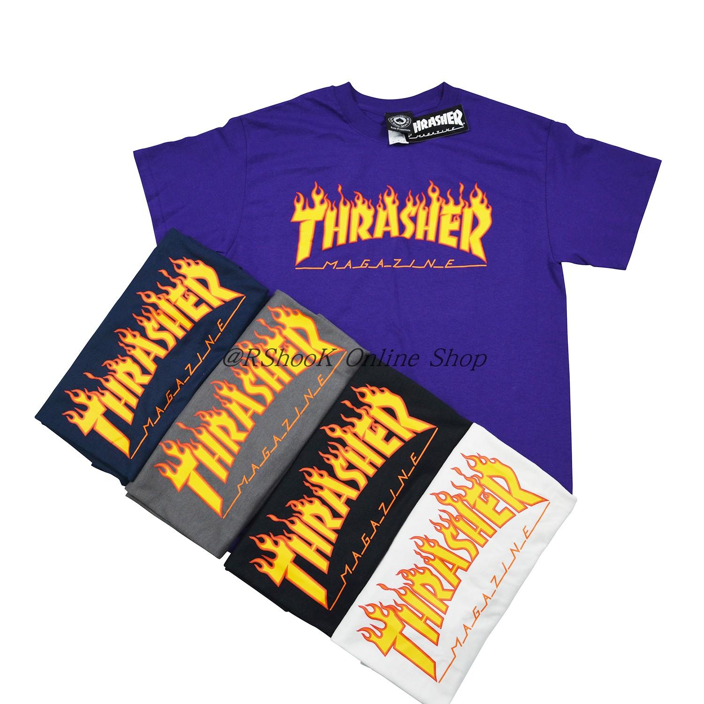 Thrasher Flame Logo T-Shirt 火焰字母圆领短袖T恤TEE基础经典