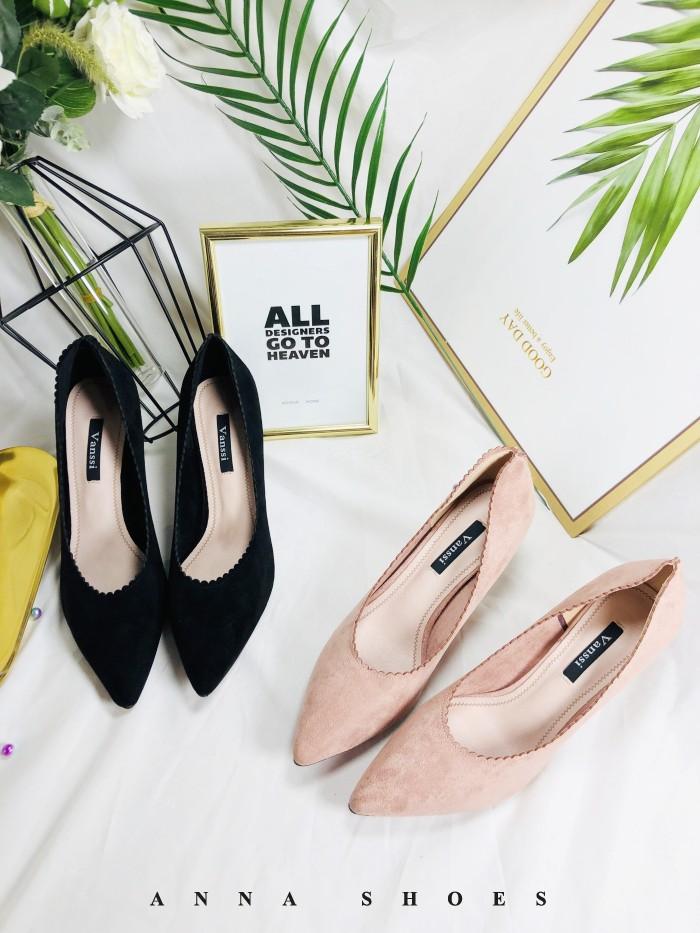韩版女鞋尖头气质软面单鞋细高跟中跟鞋时尚女鞋新款2019撤柜女鞋