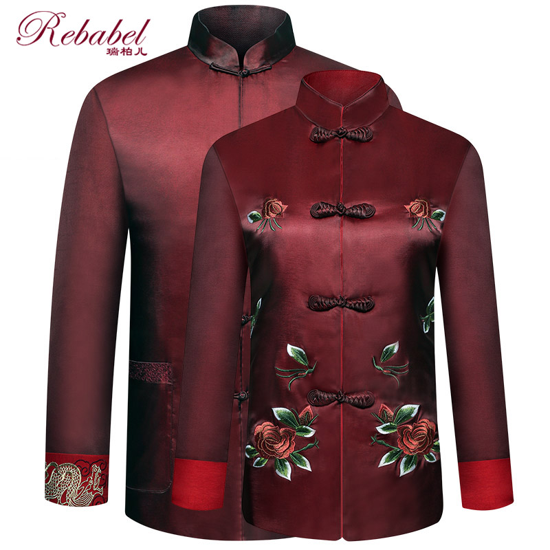 Middle-aged and elderly couples Tang suit women's blouses, grandparents and grandparents, birthday clothes for the elderly, birthday clothes