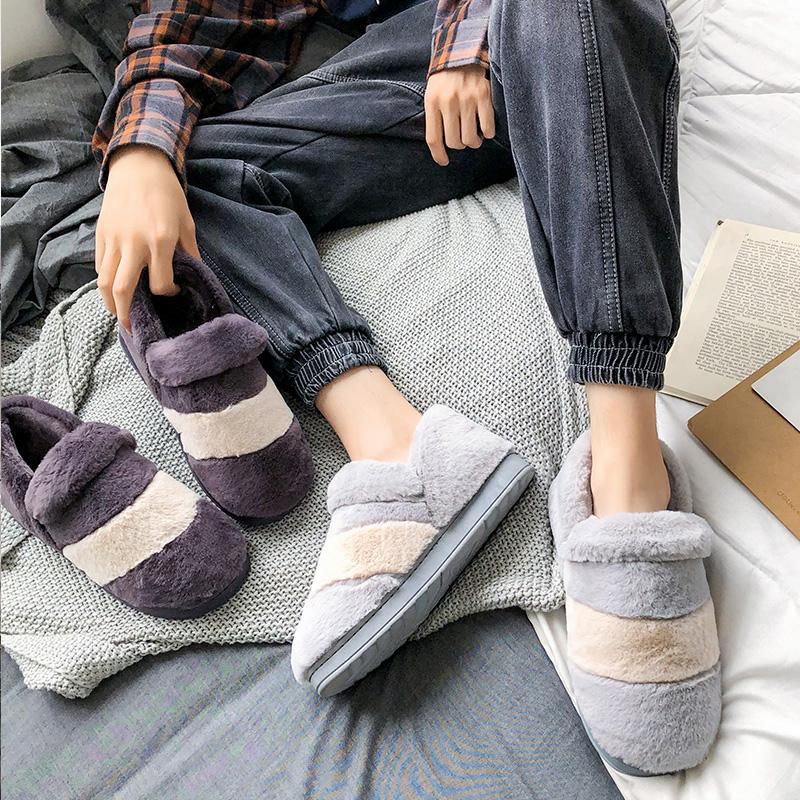 冬季包跟防滑室内毛绒家用学生棉鞋使用评测分享