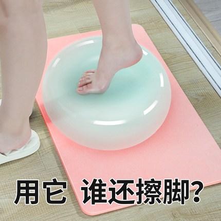 硅藻泥脚垫浴室防滑垫硅藻土脚垫吸水板速干浴卫生间门口地垫家用