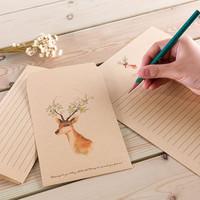 Тень наслаждаться полный 9 юаней лес олененок конверт ретро простой небольшой свежий любовь книга письмо бумага конверт установите