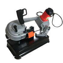 Multi-function metal belt saw machine recumbent variable speed small sawing machine woodworking Cutter portable Electric Belt saw machine