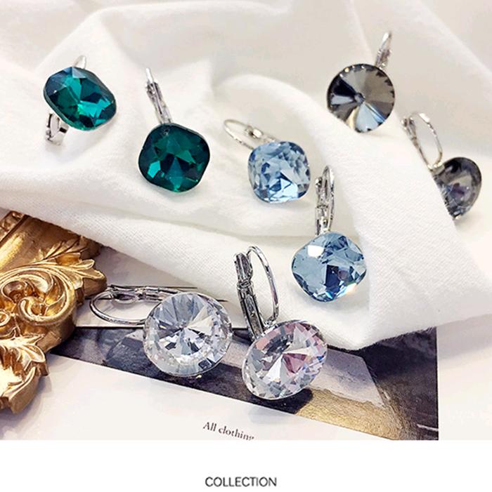 Retro shining big diamond single ear jewelry Korean Cut Crystal Earrings earnails earhook Earrings versatile ear buckle