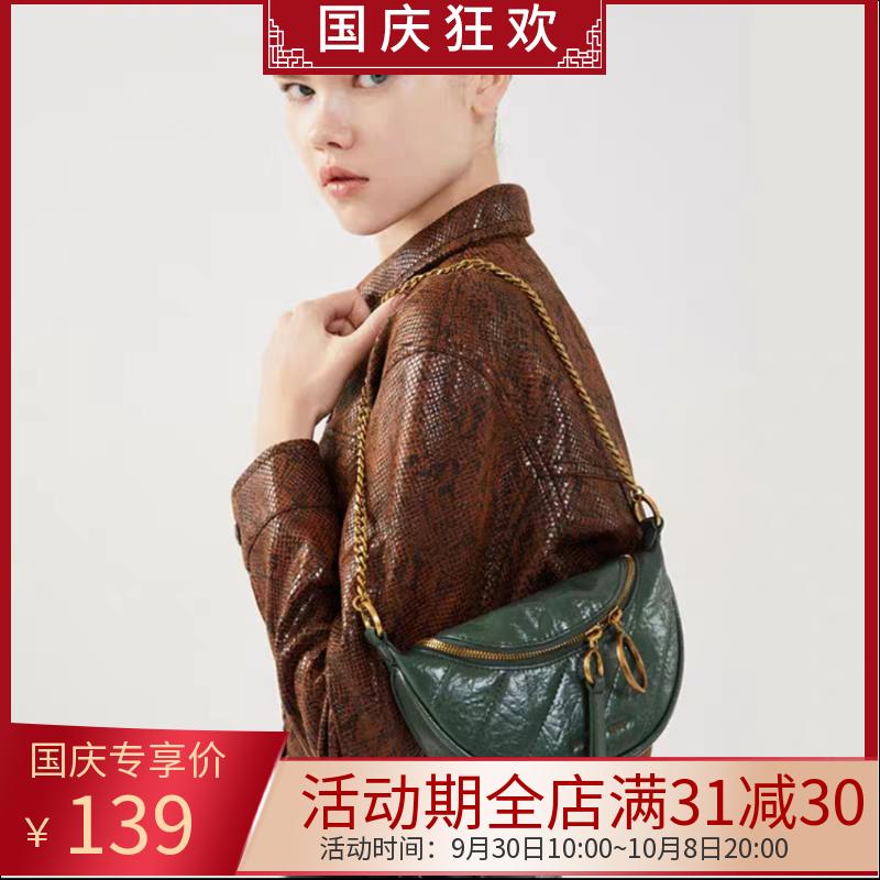 满31元可用30元优惠券新品款小ck腰包单肩手提圆环女包