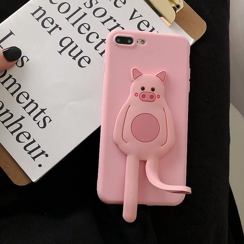 可爱萌小猪小米8手机壳创意支架红米note7/5A/4X硅胶小米9se青春探索个19.80元包邮