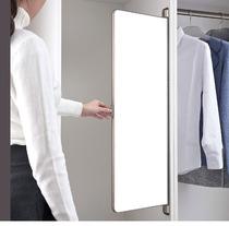 曲屏对开门衣柜镜子内装推拉镜试衣镜衣橱置旋转全身镜折叠穿衣镜