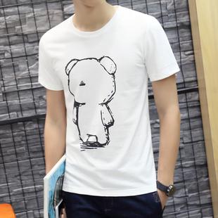 短袖t恤白色修身韩版圆领纯棉上衣