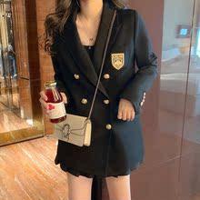 韩版个姓休闲网红小西装外套女秋冬季宽松学院风西服上衣2019新款