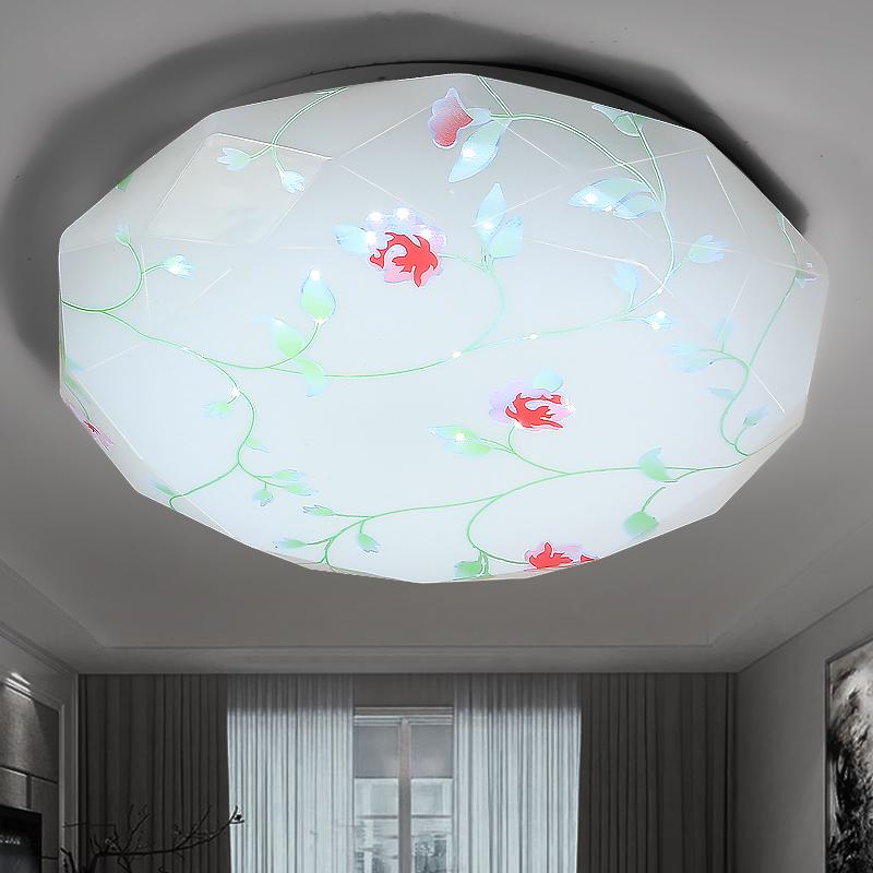 LED吸頂燈鑽石玫瑰花陽臺過道走廊 卧室燈客廳燈廚衛燈現代簡約