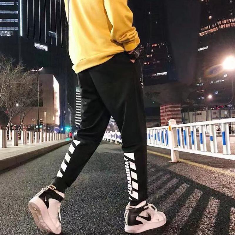 四季百搭潮流休闲裤男士修身束脚裤学生大码运动裤男装新款九分裤