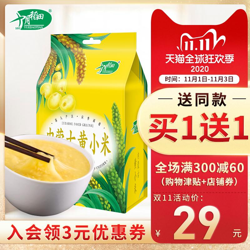 买1送1 十月稻田黄小米粥吃的小黄米食用五谷杂粮米月子米1kg
