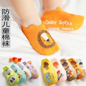 春夏新款卡通点胶男女童隐形袜防滑地板袜儿童船袜宝宝小童学步袜