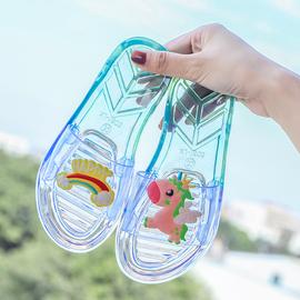 夏季儿童拖鞋亲子小女孩家居休闲平底凉拖女童时尚外穿软底沙滩鞋图片