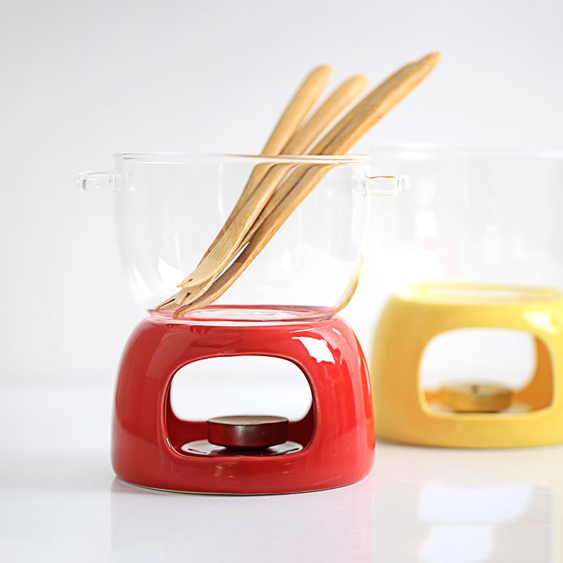 需要用券非非家用巧克力火锅芝士火锅玻璃小火锅陶瓷蜡烛加热下午茶甜品锅