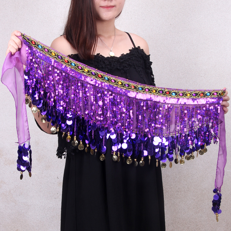 Новый рубец кожа танец талия ягодица полотенце новичок длинный, широкий кисточка талия полотенце индия танец производительность из ремень пояс