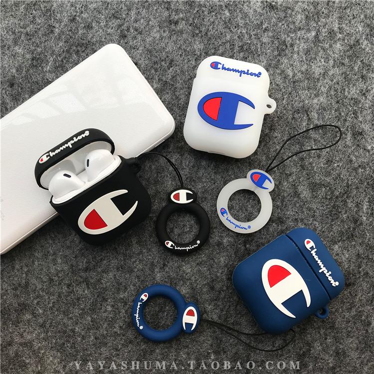 潮牌冠军AirPods保护套1.2代3苹果无线蓝牙耳机套pro软壳个性男女,可领取元淘宝优惠券