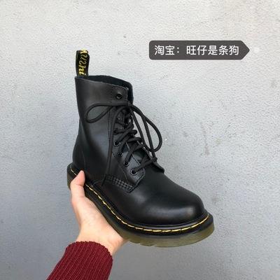 2020新款英倫系帶平底機車短靴騎士軍靴馬丁靴情侶款男女靴子潮