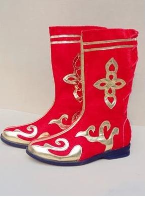 Новая коллекция спец. предложение Этнические монгольские тибетские танцы высокая эластичные цветок принт Обувь