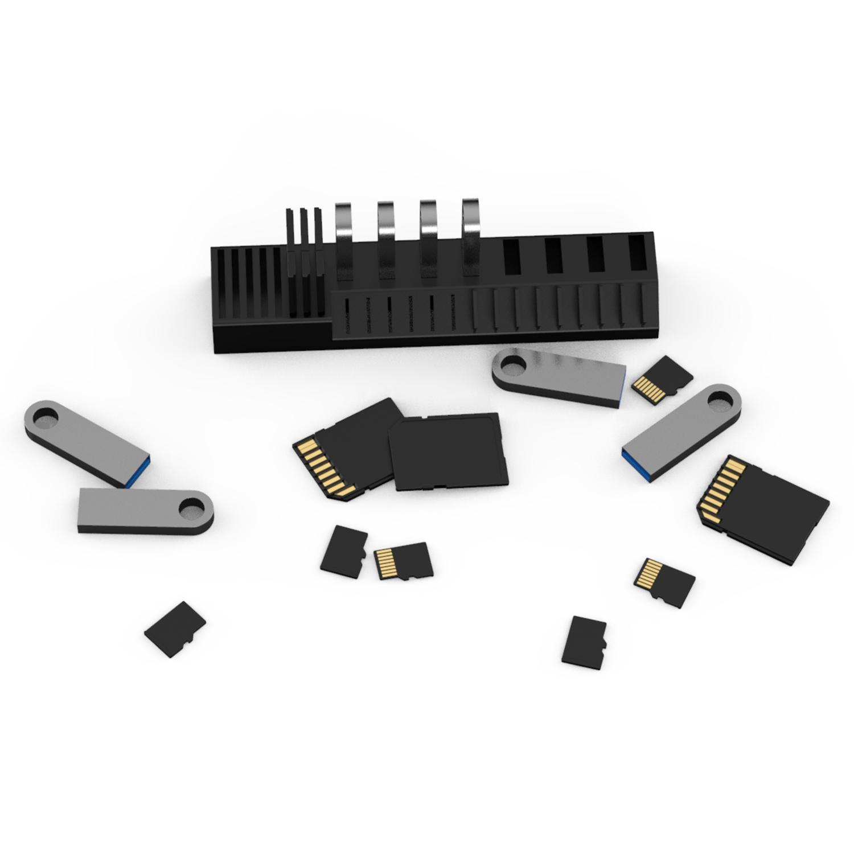 桌面�m科芯金HP士�DU�P支架U盾K���W三迪星SD卡迷你64G32G收�{盒