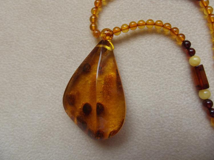 Miss Poland natural amber stone plant pelinger pendant pendant Pendant Necklace genuine jewelry