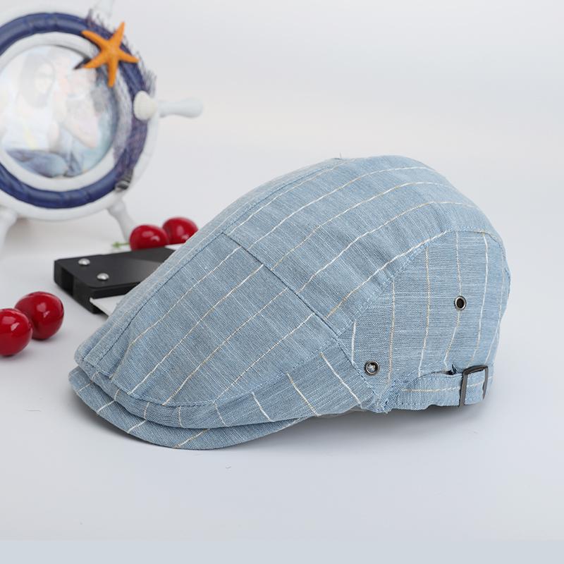 Hat man summer breathable cap Korean fashion youth Beret casual versatile British hz-1729