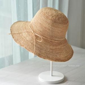MUJI-Sytle 热销超值经典简约拉菲草帽宽帽檐遮阳帽女帽©Simply