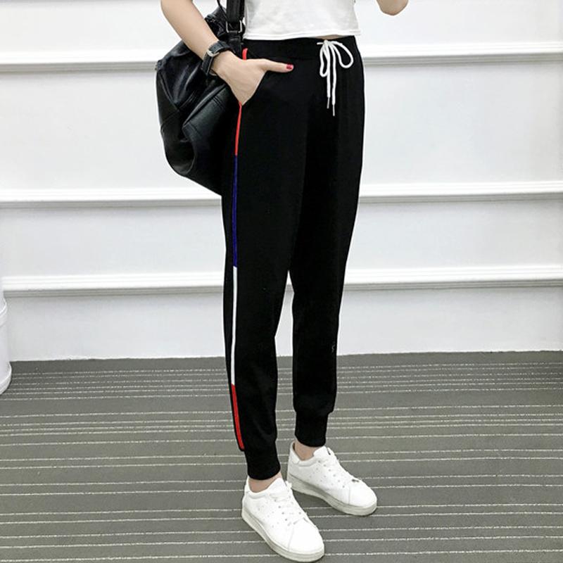 超大码女裤200斤加大号运动裤胖mm新款韩版薄款宽松哈伦长裤子