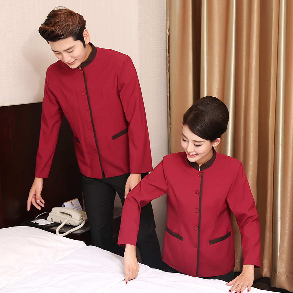 Autumn and winter long sleeved cleaners work clothes uniform Hotel Travel Agency cleaners health clothes nursing home