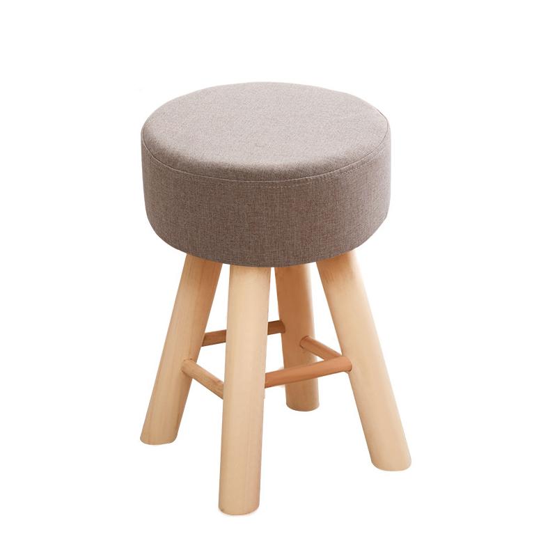 网红凳子家用卧室小沙发现代简约懒人可爱实木梳妆台化妆椅子