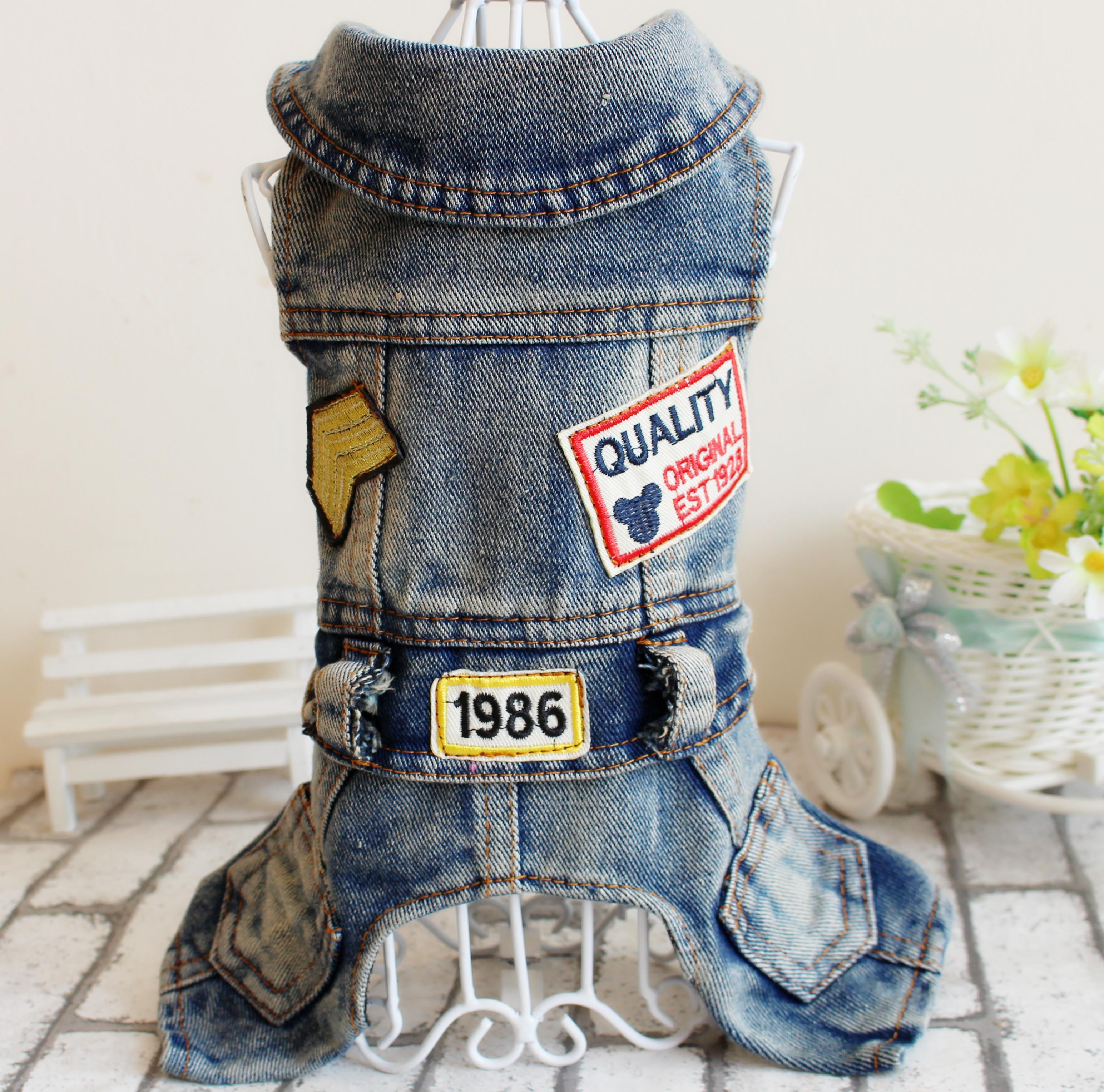 «Ежедневные специальные» ПЭТ одежды осень/зима Мишка VIP соединился 4 legged джинсы весна/лето