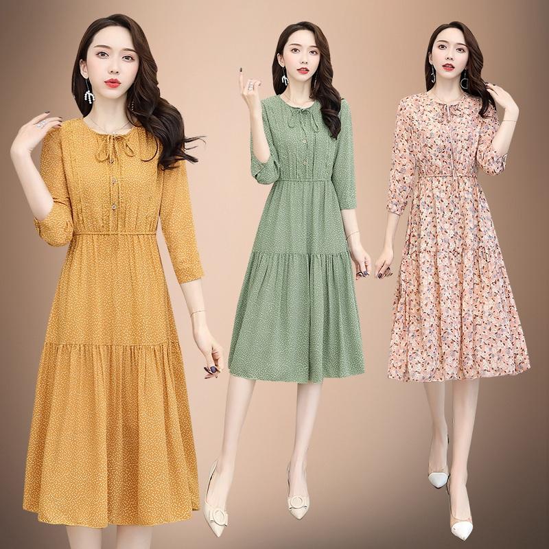 2020春奢华新款粉红玛丽声雨竹专柜正品牌女装简约时尚真丝连衣裙