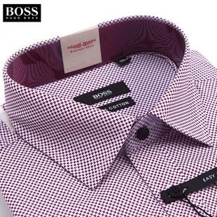 清仓夏季boss男士纯棉短袖中年衬衫