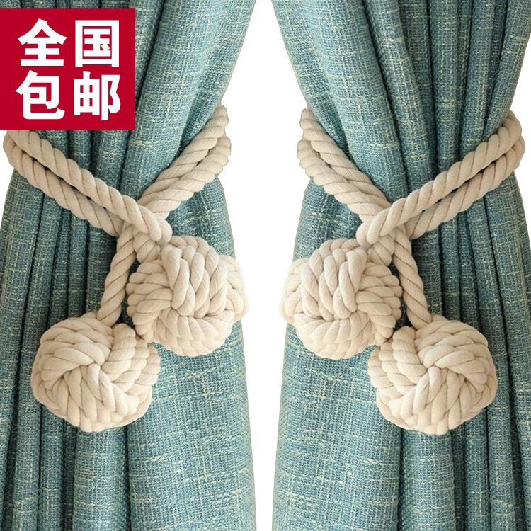Настоящее время поколение Простой шпагат окно занавес с застежкой бандаж со шнурками Связанная веревка цена за пару Подвесной ремешок для галстука с европейскими цветами