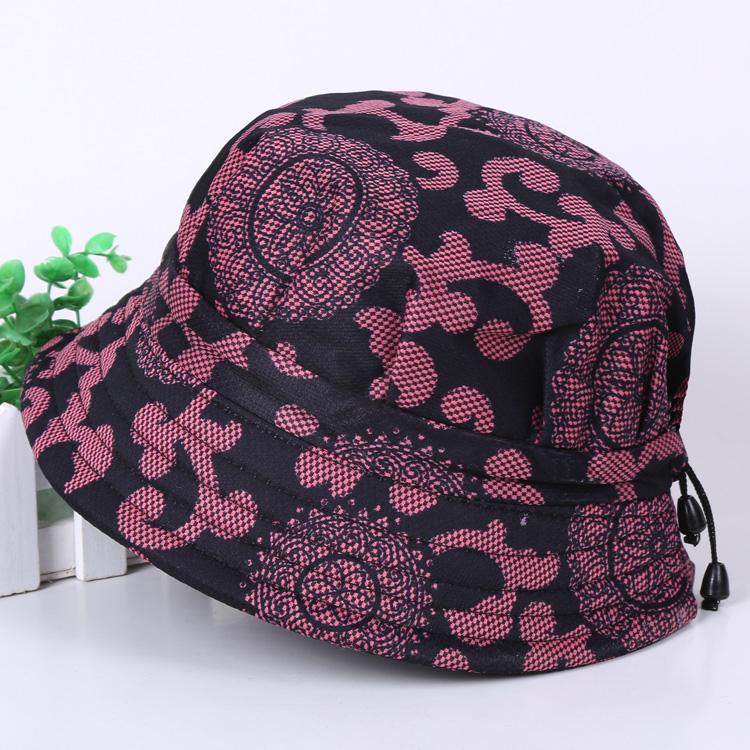 春秋天遮阳帽中老年人帽子女夏季防晒渔夫帽薄款老人帽奶奶女布帽