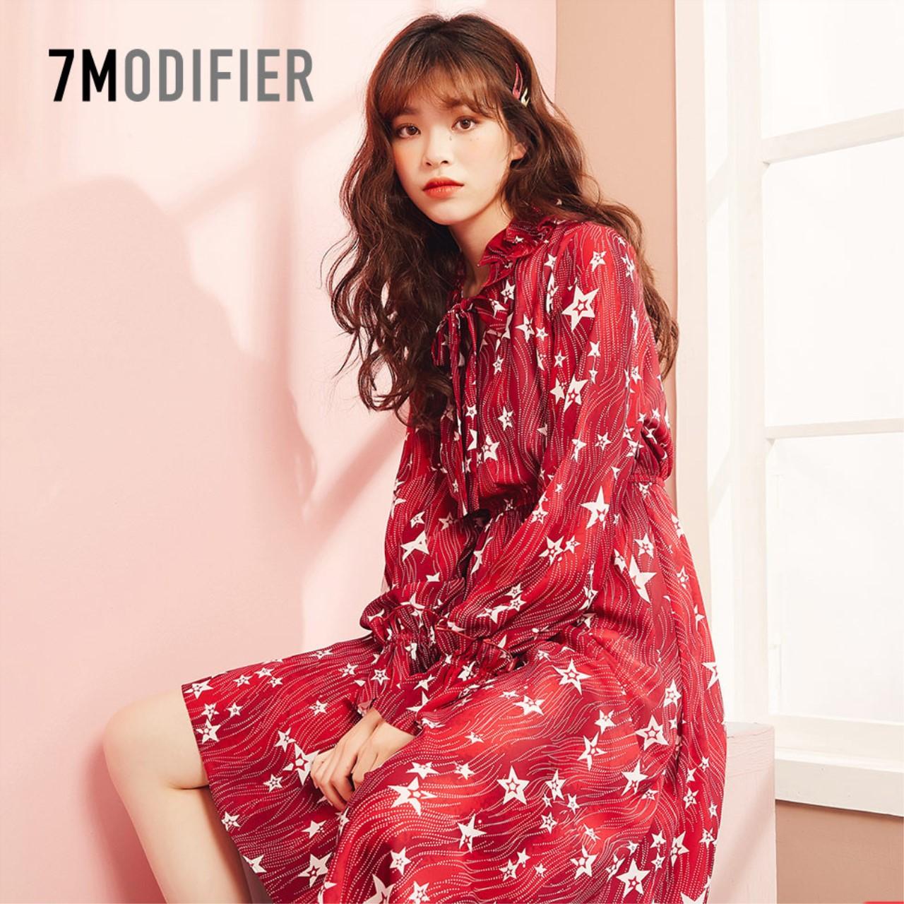 雪纺长袖女士2019新款小个子百褶裙11月25日最新优惠