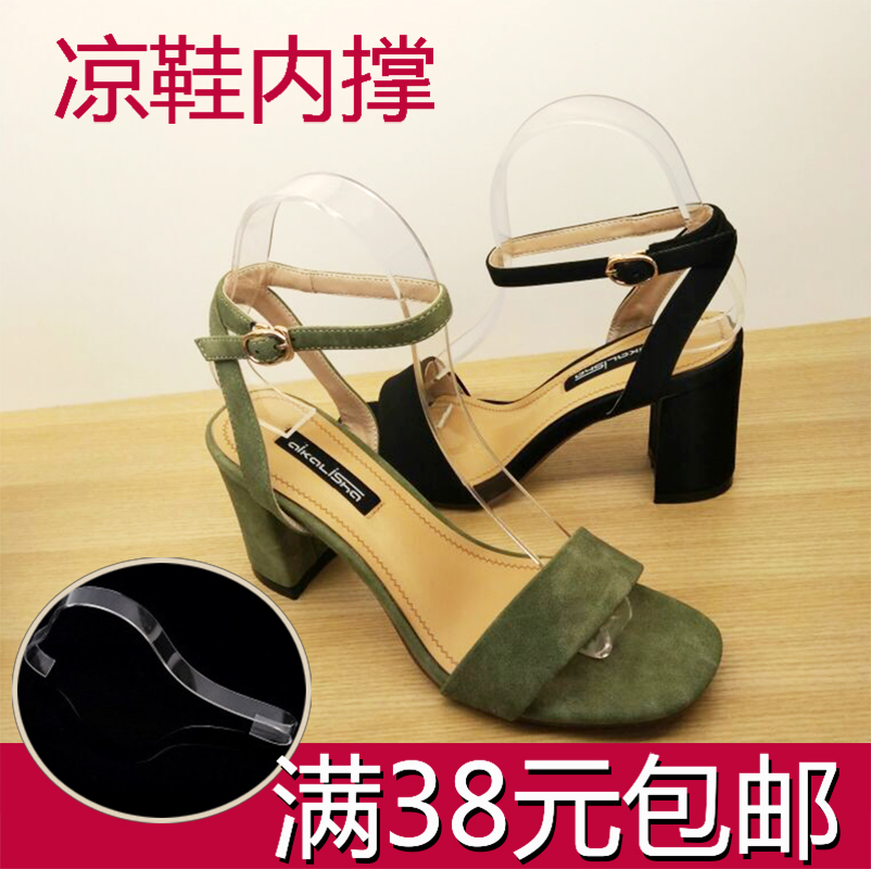 Разлетаться, как горячие пирожки акрил обувная полка бомба полка обувной уход женщина пластик сандалии обувной поддержка стоять дисплей сандалии поддержка прозрачный золотой