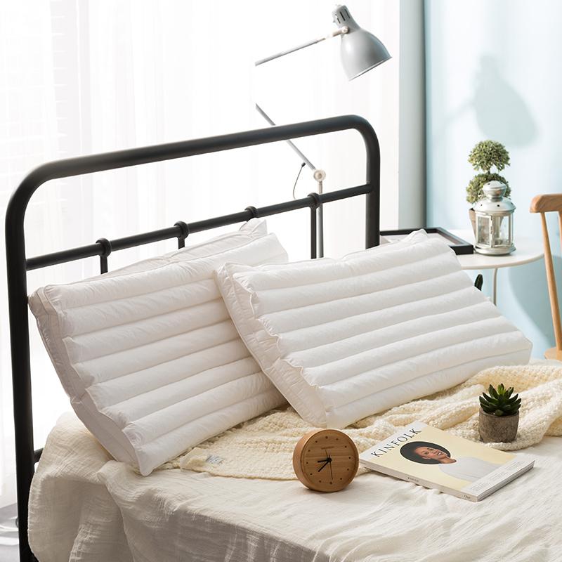 日式健康舒睡枕头PE管纤维二合一枕芯 多功能护颈柔软枕芯