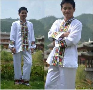 云南少数民族服装 大理白族服饰 白族京族男舞蹈服装演出服舞台服