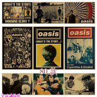 查看Oasis 绿洲乐队 摇滚海报牛皮纸装饰画酒吧宿舍照片相框墙纸画芯价格
