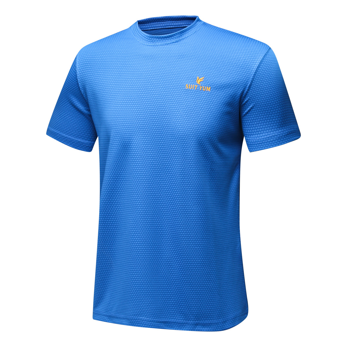 2021 new polyester short sleeve T-shirt quick drying casual sports bottom shirt mens breathable summer and autumn large running top