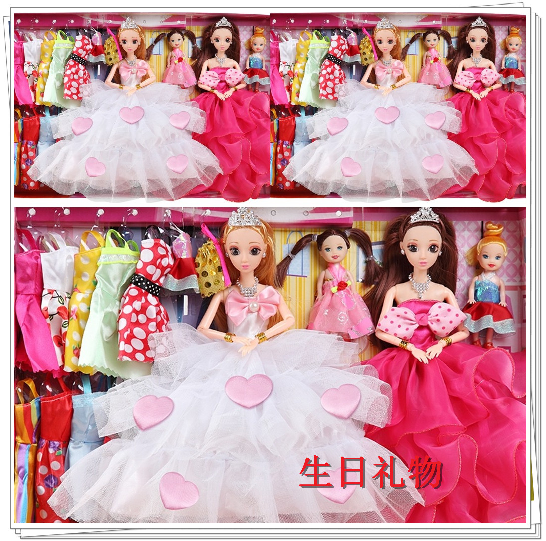 特卖芭比甜甜屋公主娃娃套装大礼盒豪华过家家房子儿童女孩玩具屋