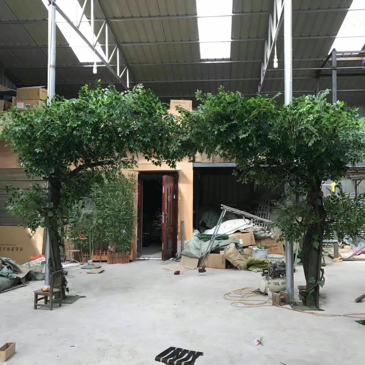 仿真榕树仿真大型植物装饰商场许愿树实木树工程观花室内假树