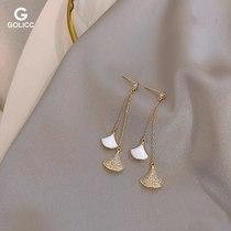 版不对称个姓珍珠字母耳坠女耳环AB原创欧美时尚高级感复古磨砂金