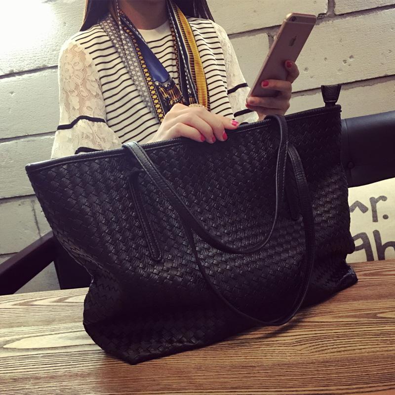 Мешки 2017 новая девушка пакет тенденция ткать большой мощность сумку модный для досуга сумочку простота большой пакет