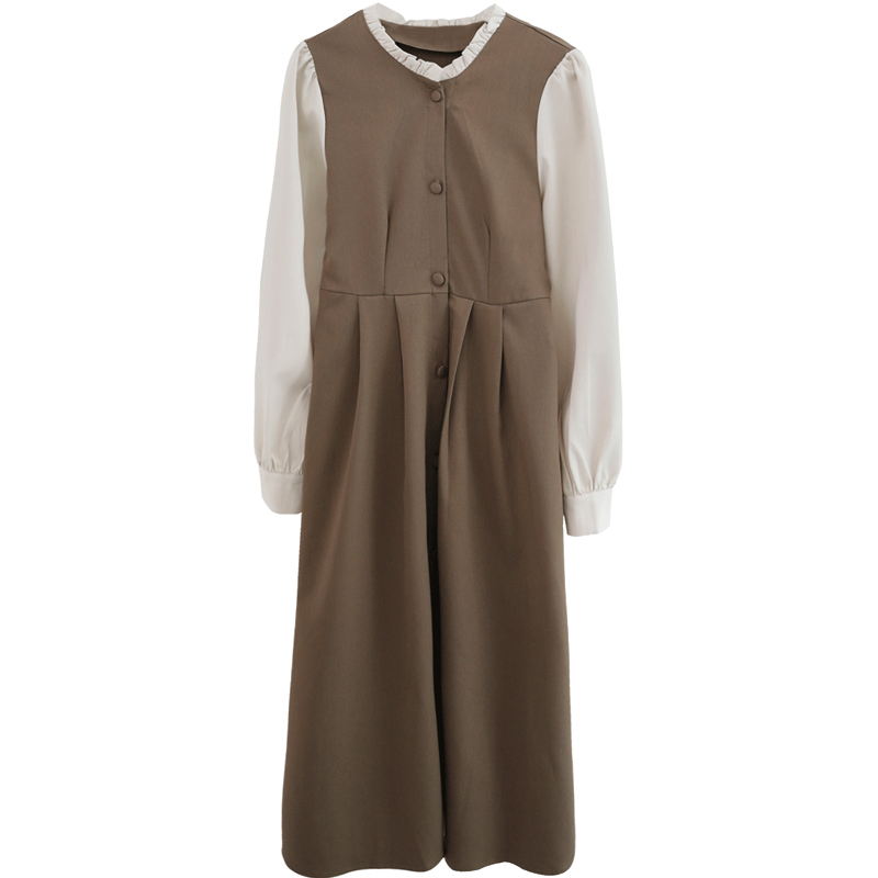 金大班赫本风法式收腰中长子女衬衫
