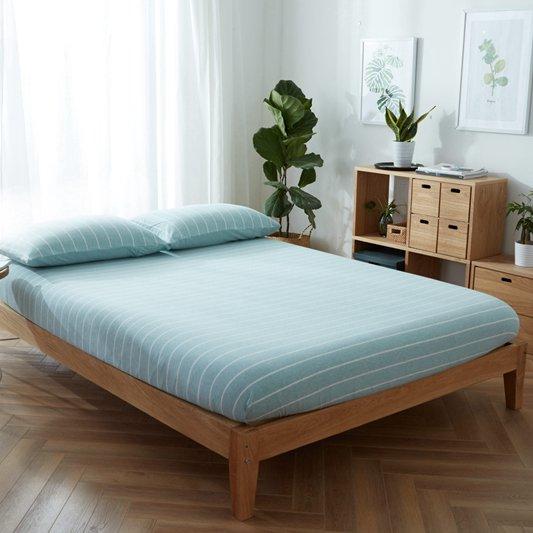 全棉天竺棉床笠1.2床单件1.5m纯棉防滑席梦思床垫保护套床罩1.8米